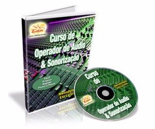 curso de operador de áudio e sonorização  em cd rom - edon