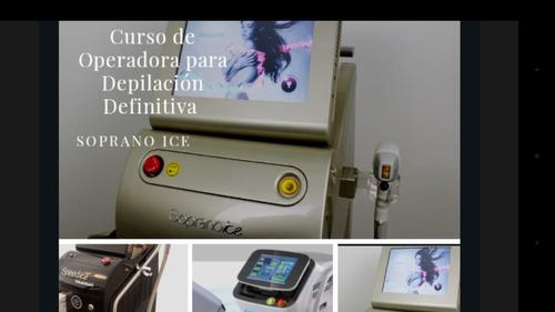 curso de operadora de depilacion laser soprano