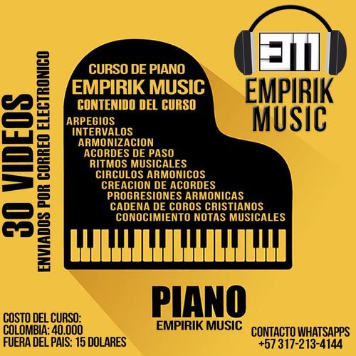 curso de piano por correo electrónico