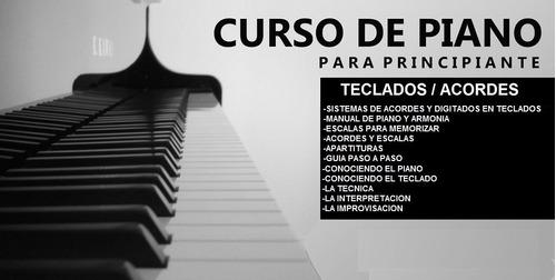 curso de piano y teclado,acordes ,manuales y mas
