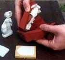 curso de resina, fibra de vidro e moldes de silicone