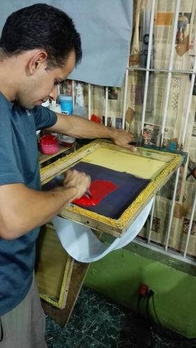 curso de serigrafía estampado textil malla plastisol