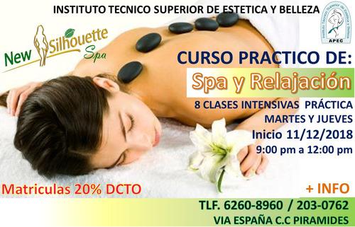 curso de spa y masajes