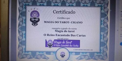 curso de tarot de marselha mais certificado grande promoção