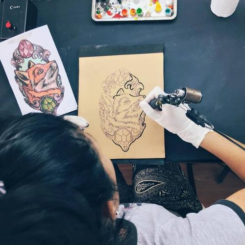 curso de tatuajes-tattoo-tatuar nivel 4- color