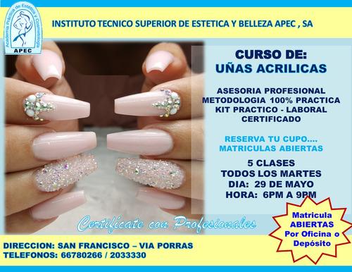 curso de uñas acrilicas básico y avanzado