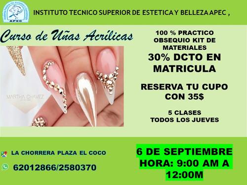 curso de uñas acrilicas (chorrera)