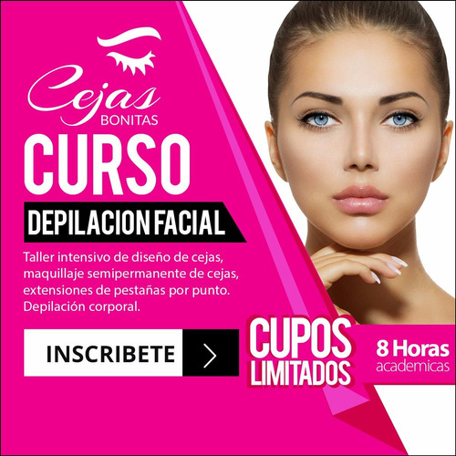 curso depilación cejas y bikini | facial corporal | taller