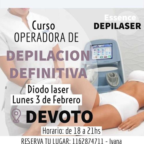 curso depilacion definitiva diodo laser lunes 3 febrero