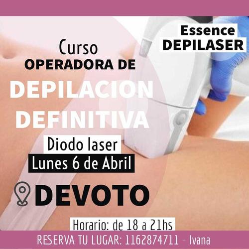 curso depilacion definitiva diodo laser lunes 6 de abril