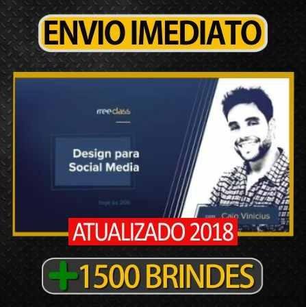 Curso Design Para Social Media Caio Vinicius 1500 Brindes R 17 86 Em Mercado Livre