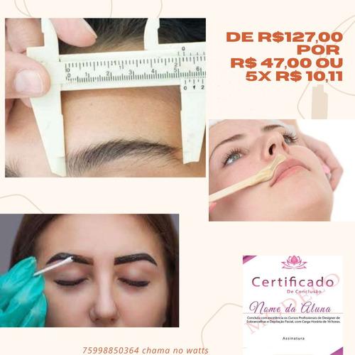 curso: designer de sobrancelhas e depilação facial