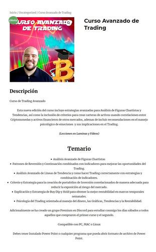 curso digital: curso avanzado de trading