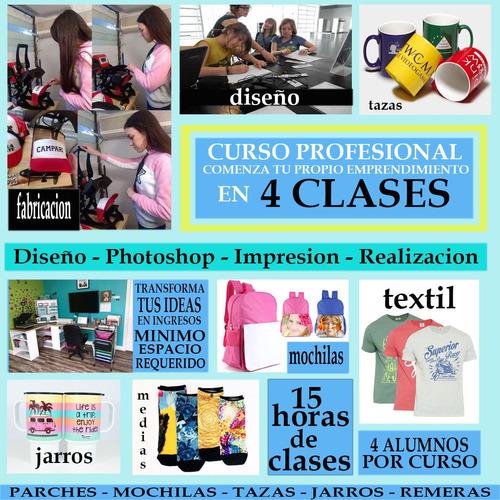curso diseño sublimacion marketing 4 clases salida laboral