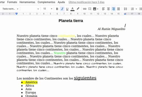 curso, documentos de google