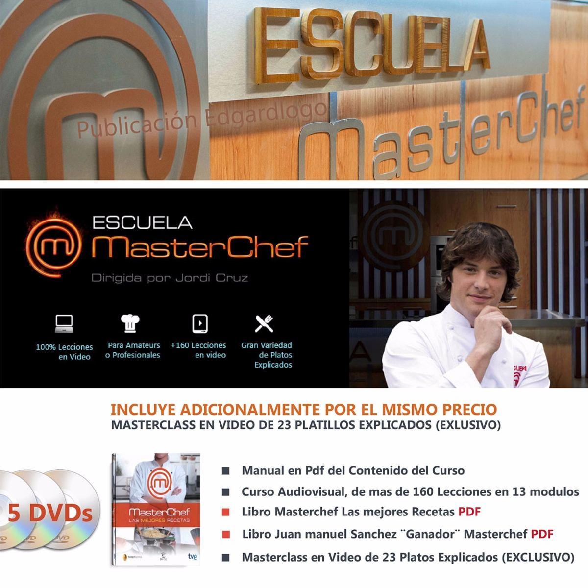 curso en 5 dvd cocina masterchef libro pdf clases chef
