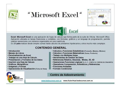 curso excel, word, joomla, wordpress, paginas web y mas