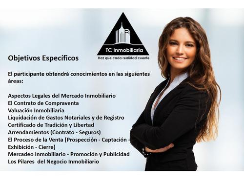 curso finca raíz administración inmobiliaria tc inmobiliaria