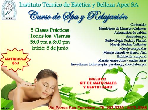 curso fisioterapia, spa y relajación