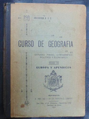 curso geografia europa y apendices estudio etnogradico 1927