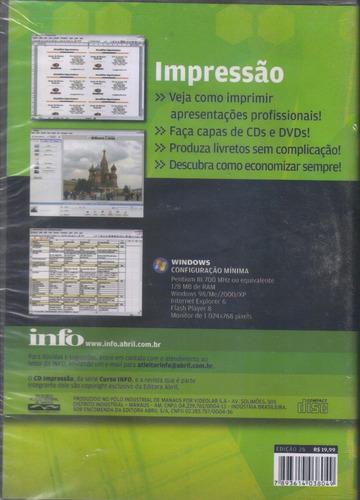 curso info de impressão profissional cd-rom original lacrado