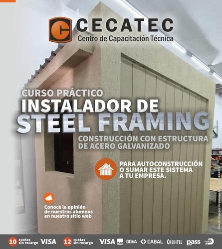 curso instalador steel framing, wood frame, yeso, isopanel.
