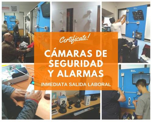 curso integrador de cámaras de seguridad y alarmas