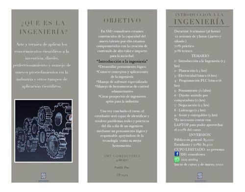 curso introducción a la ingeniería