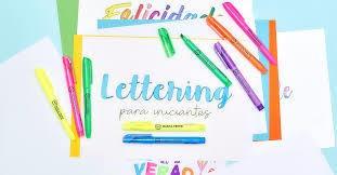 curso lettering y caligrafía desde casa
