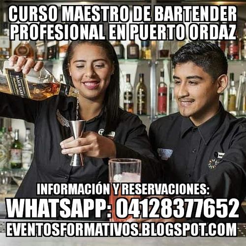 curso maestro de bartender profesional en puerto ordaz