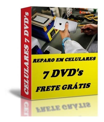 curso manutenção celulares smartphones frete grátis 7 dvds b