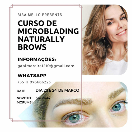 curso microblading naturally brows data e local a definir