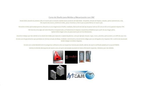 curso moldes cnc autocad artcam mach3
