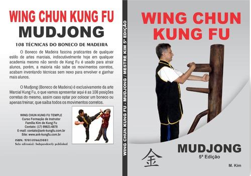 curso mudjong - 108 técnicas boneco de madeira de wing chun