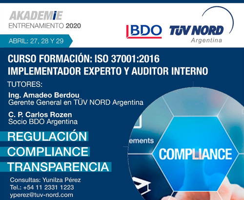 curso on line  iso 37001 - tüv nord arg