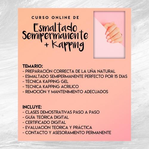 curso online esmaltado semipermanente + kapping