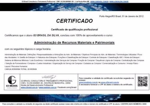 curso operador de telemarketing com certificado
