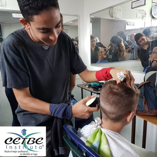 curso  peluquería  barbería mechas cirugía capilar moños