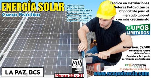 curso práctico de energia solar - la paz bcs