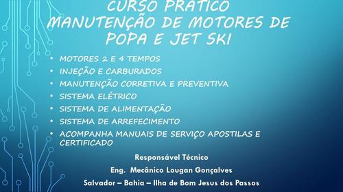 curso pratico manutenção de motor de popa e jet ski