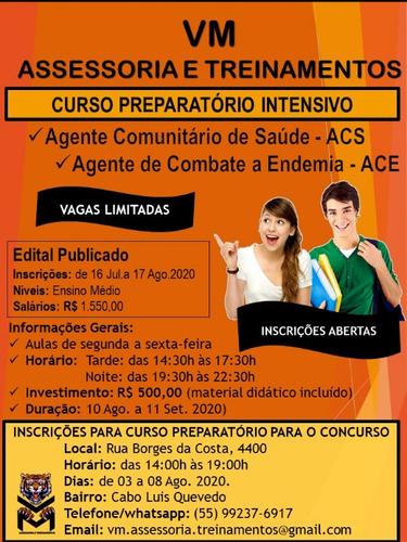 curso preparatório para concurso agente comunitário de saúde