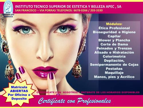 curso profesional de estilista y belleza