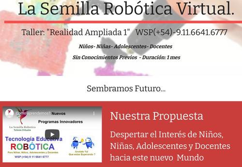 curso semanal robotica arduino niños adolescentes intensivo