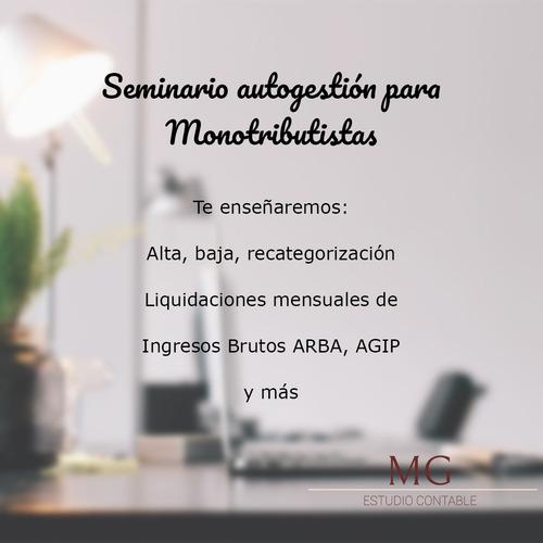 curso seminario online de autogestion de monotributo