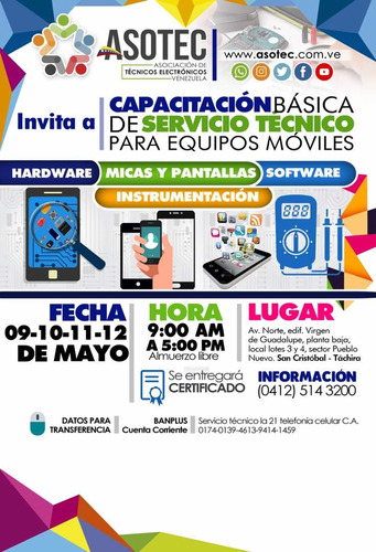 curso servicio tecnico celular de asotec venezuela