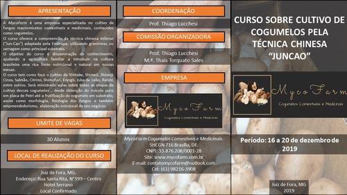 curso sobre o cultivo de cogumelos comestíveis e medicinais