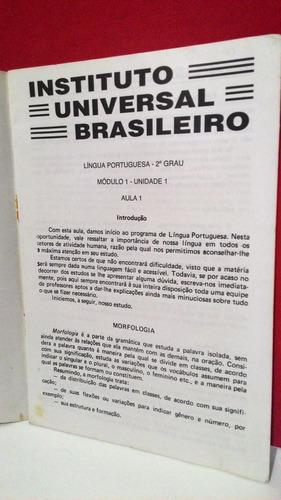 curso supletivo 2º grau português aula 1 á 2
