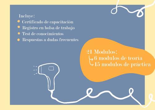 curso taller depilacion definitiva laser online certificado