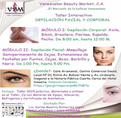 curso - taller interactivo depilación y maquillaje de cejas