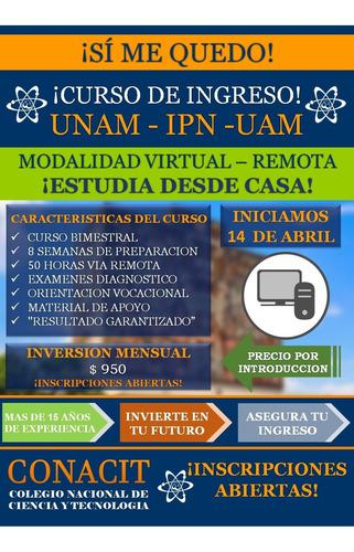curso virtual de ingreso unam -  2da vuelta jun 2020
